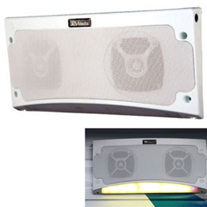 "Picture of King RV Media (TM) White 13-1/2""Wx5-1/2""Hx2-1/4""D Waterproof Bluetooth Speaker RVM1000 24-4870"