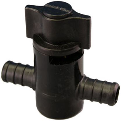 """Picture of EcoPoly Fittings  1/2"""" PEX Plastic Straight Stop Valve 28879 69-5043"""