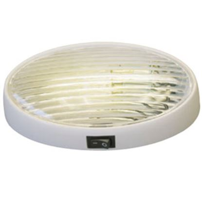 Picture of Gustafson  Clear w/Amber Lens Oval Porch Light w/Switch GAM4032 69-5187