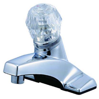 """Picture of Relaqua  Chrome w/Single Clear Knob 4"""" Lavatory Faucet AL-4100RC 69-7076"""