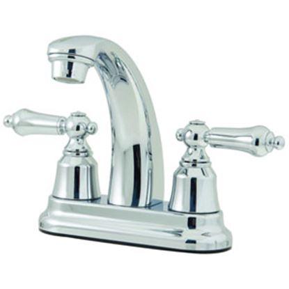 """Picture of Relaqua  Chrome w/Teapot Handles 4"""" Lavatory Faucet w/Hi-Arc Spout AL-4234C 69-7080"""