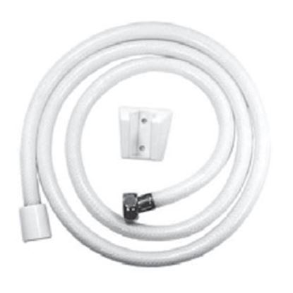 "Picture of Relaqua  60""L White Vinyl Shower Head Hose AS-140W 69-7094"