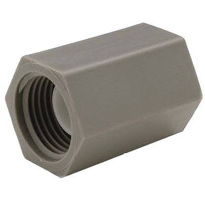 "Picture of QEST Qicktite (R) 1/2"" FPT Gray Acetal Fresh Water Straight Fitting  69-8121"