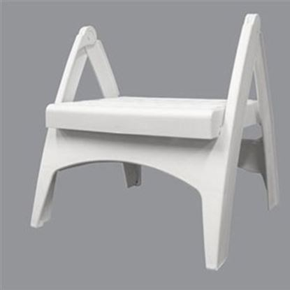 "Picture of Adam's Quik-Fold (R) 13-3/4""H White Polypropylene Folding Step Stool 8530-48-3730 69-8344"