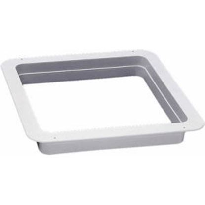 "Picture of Ventline  Birch White 1-1/8"" Deep for 14""x14"" Opening Radius Roof Vent Garnish VA0445-25 96-4497"